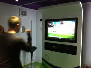 David beim Speerwurf in Kinect